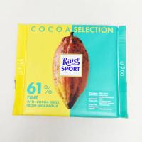 RITTER SPORT COCOA 61% FINE W/ COCOA MASS 100 G