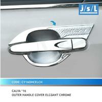 Paket Cover Handle Pintu + Outer Mangkok Elegant Chrome Calya