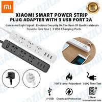 Stop Kontak Xiaomi Mi Smart Power Strip 3 Plug dengan 3 USB Port 2A