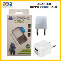 Adapter Hippo Cubic Basic Charger 1A Single Port Smart Detect Charging