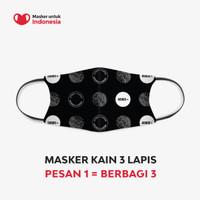 Masker Kain 3 Lapis (3 Ply) Earloop - Desain oleh The Goods Dept.