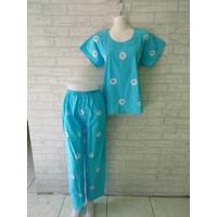 setelan piyama celana panjang batik jumputan