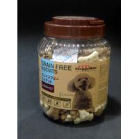 Makanan Anjing Doggyman Grain Free Biscuits Milk Carob 580g 0231