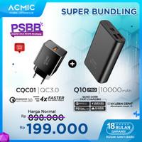 [Bundle] ACMIC Q10PRO 10000mAh PowerBank + ACMIC CQC01 QC3.0 Charger