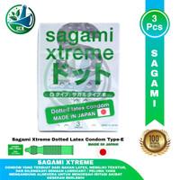Kondom Sagami Xtreme Dotted Hijau Besar - Isi 3 pcs -10 pcs