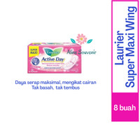 PEMBALUT LAURIER ACTIVE DAY SUPER MAXI ISI 8