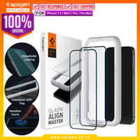 Tempered Glass iPhone 12 Pro Max 12 Mini Spigen AlignMaster Full Cover