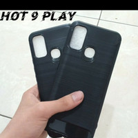 INFINIX HOT 9 PLAY NEW SOFTCASE SLIM FIT SPIGEN CARBON