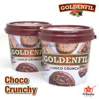 Goldenfil Choco Chocolate Crunchy Spread Selai Olesan Renyah 1 kg