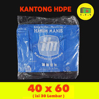Kantong Plastik Kresek Warna-Warni Tebal UK 40X60 HDPE