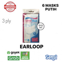 Masker Sensi Earloop Putih isi 6 pcs