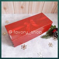 Cake Box 10 x 25 Red Ribbon / Dus Roll Cake Bolu Gulung Natal Imlek