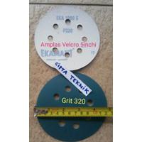Amplas velcro 5 inchi Grit 320 Ekamant 8 lubang