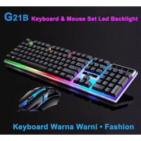 PAKET KEYBOARD GAMING + MOUSE GAMING USB / 1 set keyboard + Mouse