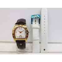 Jam Tangan Wanita Aigner A32278A Asti Due Gold Brown Leather Strap
