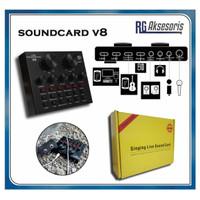 SoundCard V8 Mixer Bluetooth SoundCard V8 Audio USB External Soundcard