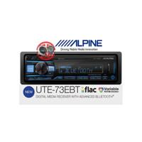 Single Din Alpine UTE-73EBT Digital Media Receiver FLAC Bass Engine