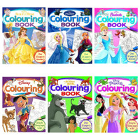 Disney Colouring Book Buku Mewarnai Princess Cinderella Frozen Pixar