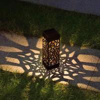 Lampu Taman Solar Panel Garden Decoration Ground Plug Warm Light