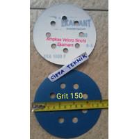 Amplas velcro 5 inchi Grit 150 Ekamant 8 lubang