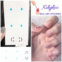 kikykoo nail art stickers french emoticon sticker kuku