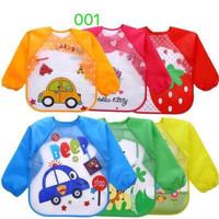 SLB10-Slabber waterproof baju tangan bib celemek anak balita kids GIRL