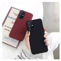 Case Samsung Galaxy M51 (2020) Premium Sandstone Softcase Ultra Thin - Biru
