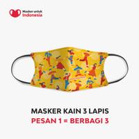 Masker Kain 3 Lapis (3 Ply) Earloop - Desain oleh Redoxon