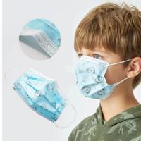 masker anak 3 ply lapis layer earloop model sensi karet telinga filter