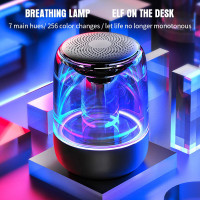SPEAKER Portable Wireless Stereo Bass Bluetooth Colorful LED Light Sou