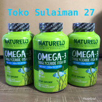 Naturelo Premium Omega 3 Triglyceride Fish Oil 1100mg isi 120 Capsules