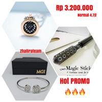 Paket Kalung Biocarbon Heart Mini + Gelang LSW Bracelet + Magic Stick