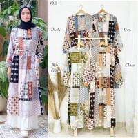 Busana Muslim Wanita - Long Tunic Floral Ethnic