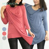 MOOIMOM Long Sleeve Drapery Maternity And Nursing Shirt - Blouse Panja