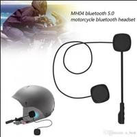 Headset Bluetooth Helm Mh04 With Microphone Music Wireless TERLARIS