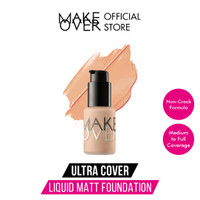 Make Over Ultra Cover Liquid Matt Foundation 03 Nude Silk 33ml - 09 Creme Rose