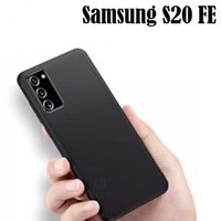 Samsung Galaxy S20 FE Slim Black Matte Soft Case Silicone Cover Jelly