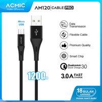 ACMIC AM120 Kabel Data Charger Micro USB 120cm Fast Charging Cable