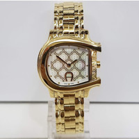Jam Tangan Wanita Aigner A132207 Cesena Gold Stainless Steel Watch