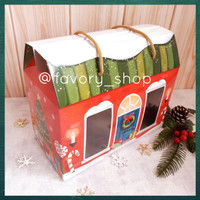 Window Box 4 Toples uk 250gr Christmas House / Hampers Packaging Natal