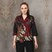 Viana Top Jumbo - Atasan Batik Jumbo Wanita Blouse Wanita