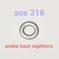 Ring Plat M8 Stainless 316 - Standar