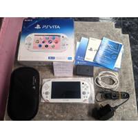 PlayStation PS Vita Slim Light Pink White Fullset 32GB Henkaku Bag