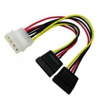 Kabel Power Sata Cabang dua / kabel molex to SATA / kabel power 4 pin