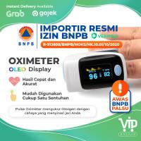 Fingertip Pulse Oximeter Oxymeter Pengukur Kadar Oksimeter Oksigen