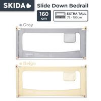 Skida 160cm Extra Tall Bedrail Pagar Ranjang Kasur Bayi Bed Guard Rail