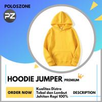 Jaket Sweater Hoodie Jumper Polos PREMIUM Kuning Pria Wanita