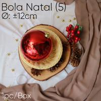 Bola Natal (5) Ø : ±12cm -Christmas ornament -Red -Pohon -Gojek only