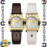 AIGNER A32202A Jam Tangan Wanita Brown White Gold ORIGINAL