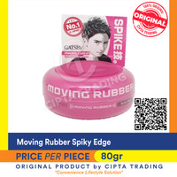 Pomade - Gatsby - moving rubber spiky edge pink 80g